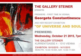 Of Universe and Soul - Georgeta Constantinescu, Vienna, 19 Oct - 14 Noi 2015