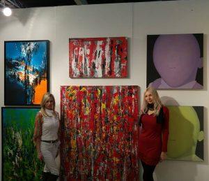 Image of Georgeta Constantinescu's paintings @LA Art Show 2017