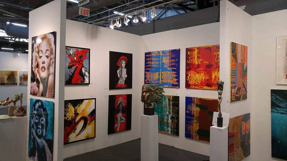 image of Georgeta Constantinescu's booth @artexpo New York 2016